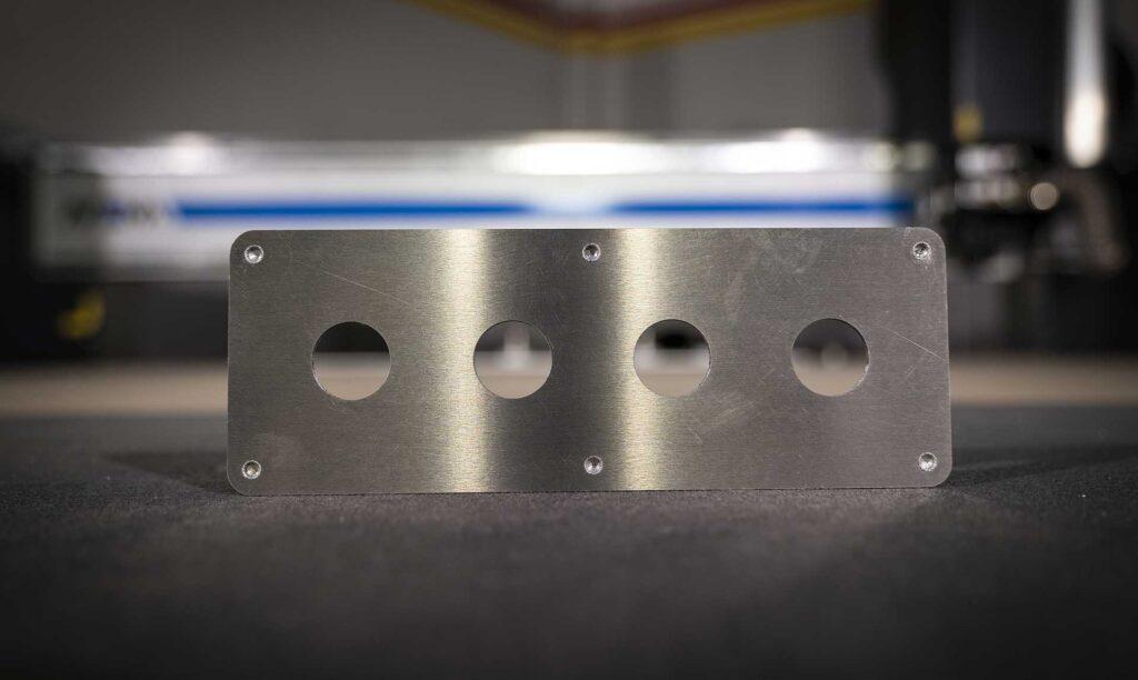 Lavorazione alluminio eseguita con pantografo industriale cnc Automa Pantografi