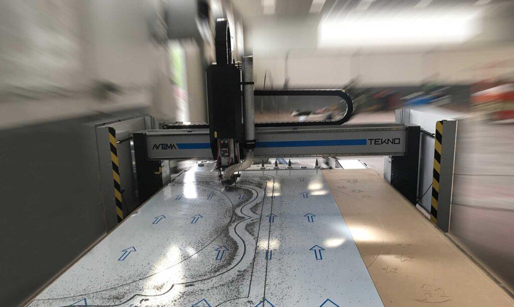 Produzione di pantografi industriali formato 3x2, modello Tekno