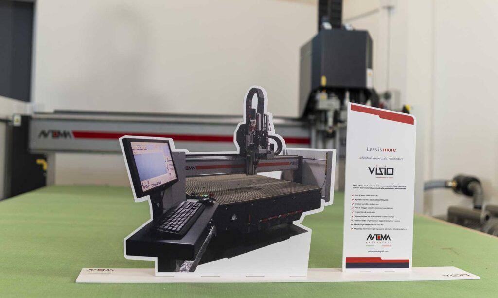 Sistema di visione taglio lama per pvc Automa Pantografi